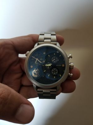 HOLIDAY SALE PRICE!!!Diesall Brave' over size watch. Limited edition blue face. $200 or best offer for Sale in Boyds, MD
