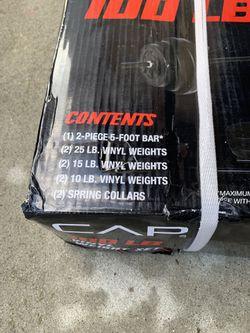 CAP 100lb barbell weight set Thumbnail