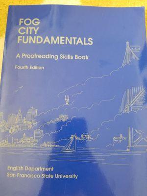 Fog city fundamentals proofreading skills 4th ed. for Sale in San Francisco, CA