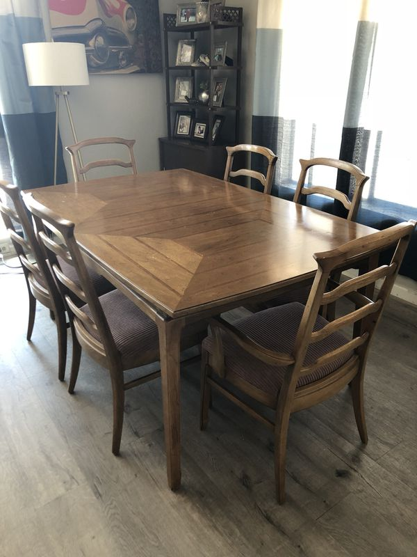Solid Wood Mid Century Dining Table For Sale In Vista CA OfferUp - Solid wood mid century dining table