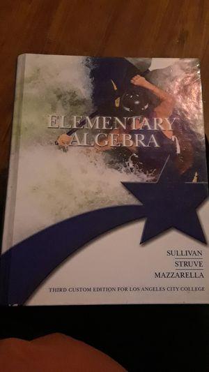 Elementary algebra 3rd edition for Los Angeles City College Sullivan struve mazzarella for Sale in South Gate, CA