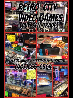 PLAYSTATION NINTENDO XBOX SEGA ATARI DREAMCAST GAMECUBE GAMEBOY NINTENDO SWITCH 3DS PS4 PS3 PS2 PS1 for Sale in Kissimmee, FL