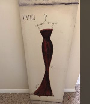 Vintage dress wall art for Sale in Fort Belvoir, VA