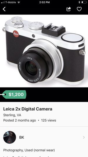 Leica 2x digital camera now selling for $900 for Sale in Ashburn, VA