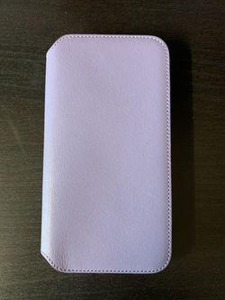 Apple iPhone XS Leather Folio Case - Lilac Thumbnail