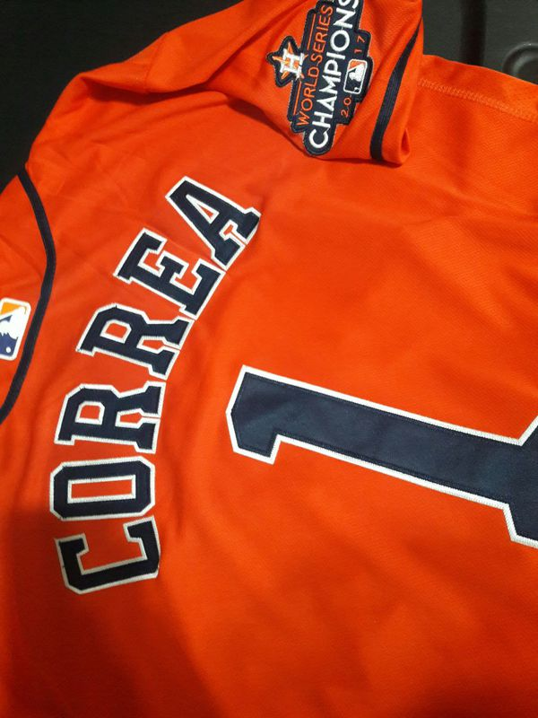 best loved a9f52 eb579 wholesale carlos correa orange jersey 163fb dd1ce