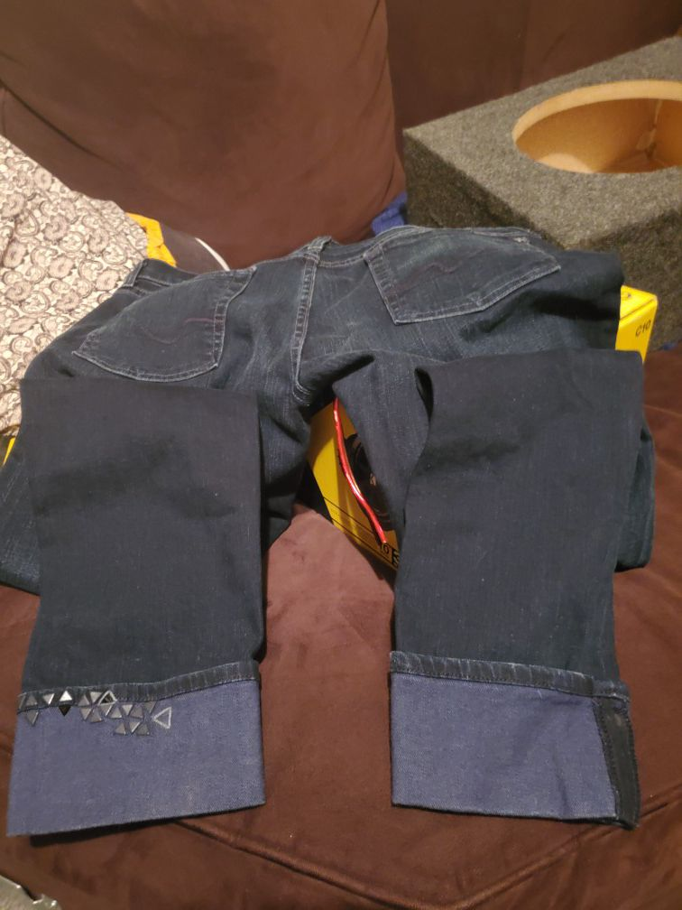 7 for all mankind Jean's with designs on legs