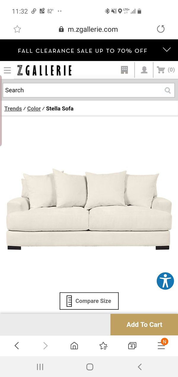 Stella Z Gallerie Couch And Loveseat For Sale In North Las
