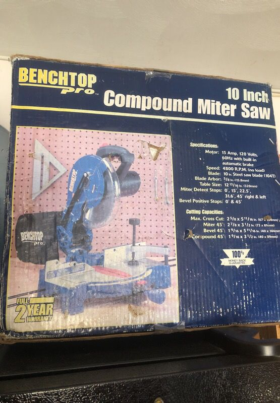 Superb Benchtop Pro 10 Inch Compound Miter Saw For Sale In Newport Squirreltailoven Fun Painted Chair Ideas Images Squirreltailovenorg