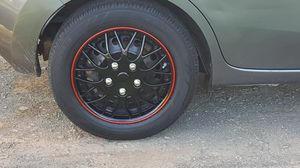 Cover Trend Black Hubcaps with Red Trim for Sale in Manassas, VA