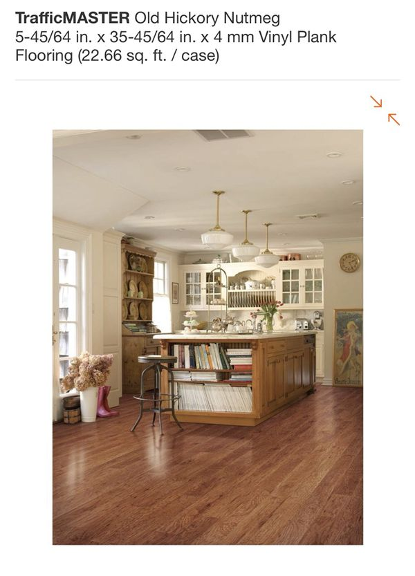 Trafficmaster Old Hickory Nutmeg 5 45 64 In X 35 4 Mm Vinyl Plank Flooring For Glendale Az Offerup