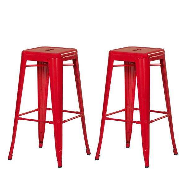 2x Brand New 30 Red Metal Bar Stool Barstool For Sale In Brea Ca