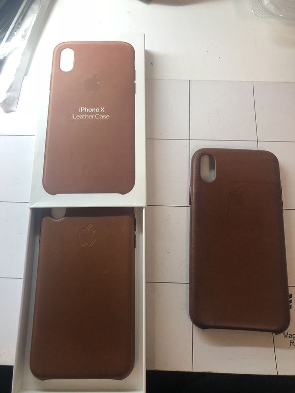 finest selection b06e7 c6453 iPhone X Saddle Brown leather case for Sale in Temple, TX - OfferUp