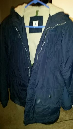 2 navy winter hooded coats for Sale in Camp Hill, PA