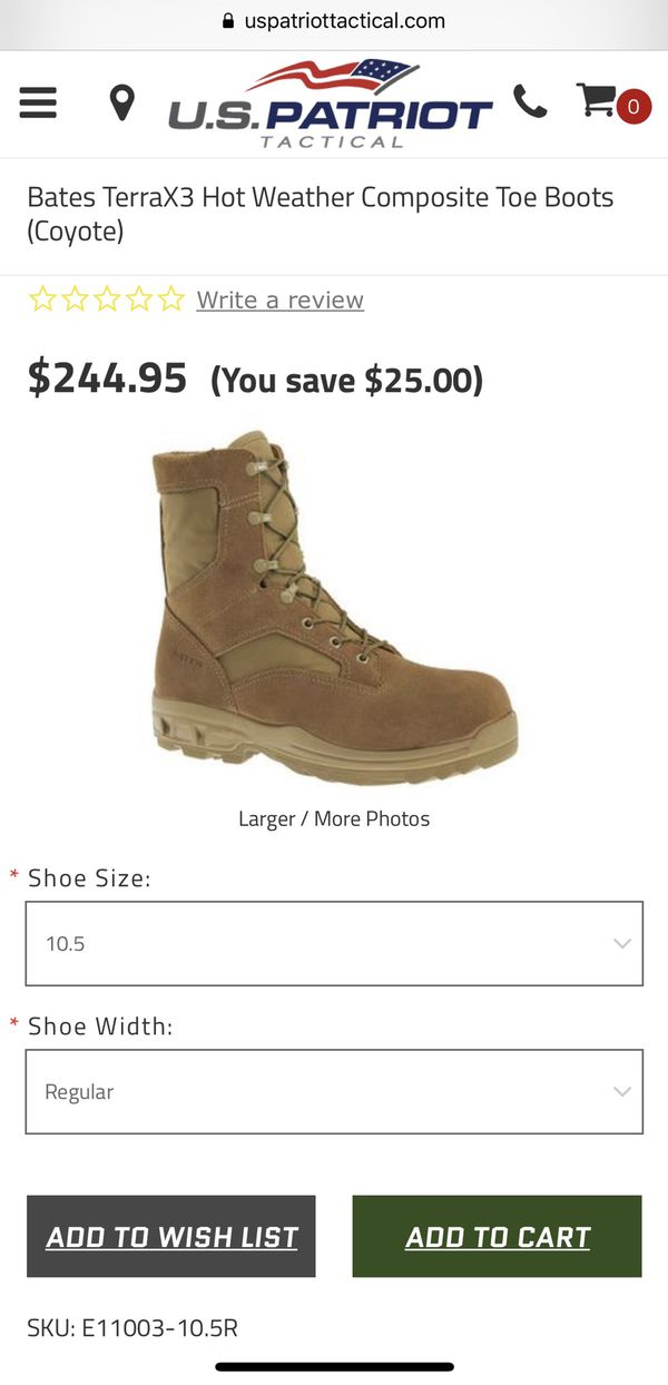2cfe89518fa BATES MILITARY WORK BOOTS for Sale in Lomita, CA - OfferUp
