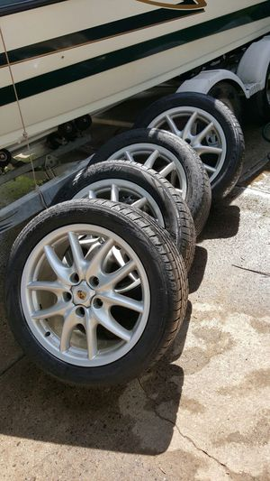 4 Factory Porsche Wheels & 7 Continental Tires!!!!!! for Sale in Annandale, VA