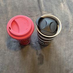 Travel Coffee Mugs Ceramic Novelty Set Of 2 Thumbnail