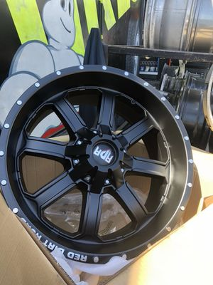 Brand new 20x9 with mud terrain tires $1500 for Sale in Los Angeles, CA