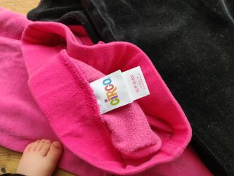 Girls Sweatpants Pink And Black  Thumbnail