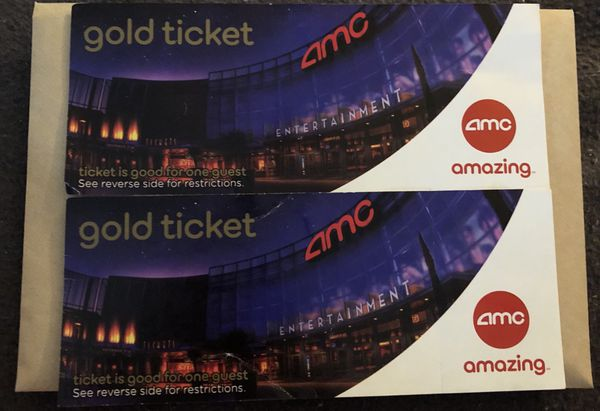 2 AMC Gold Tickets Pick Up In Bronx For Sale NY