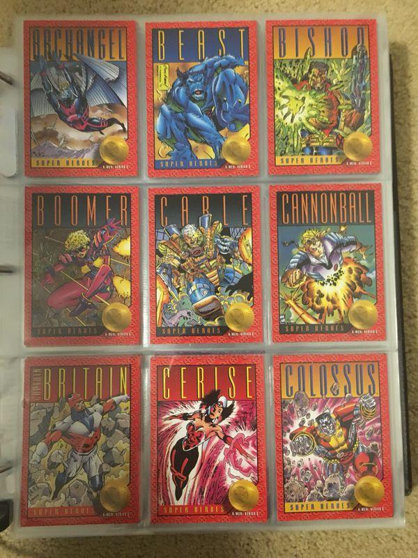 bd10860b2d0 1993 Marvel X-MEN SERIES 2 Trading Cards COMPLETE BASE SET