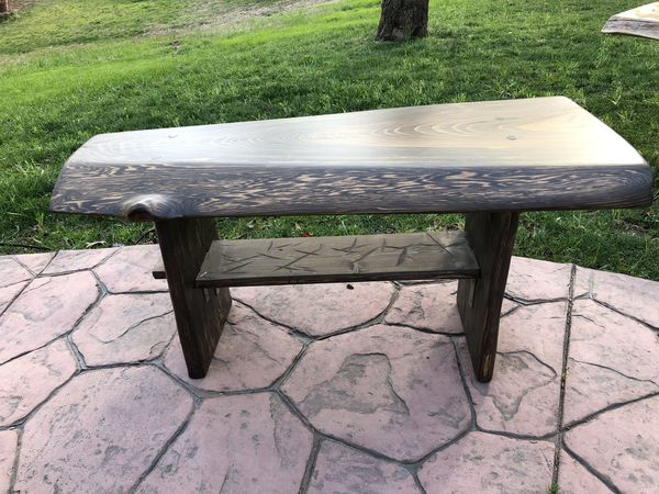 Groovy Small Oak Bench Live Edge Hand Made For Sale In Garner Nc Offerup Evergreenethics Interior Chair Design Evergreenethicsorg