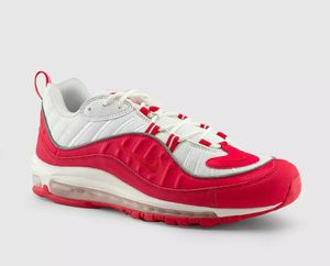 Photo 💥NIKE MEN'S AIR MAX 98 WHITE & UNIVERSITY RED💥