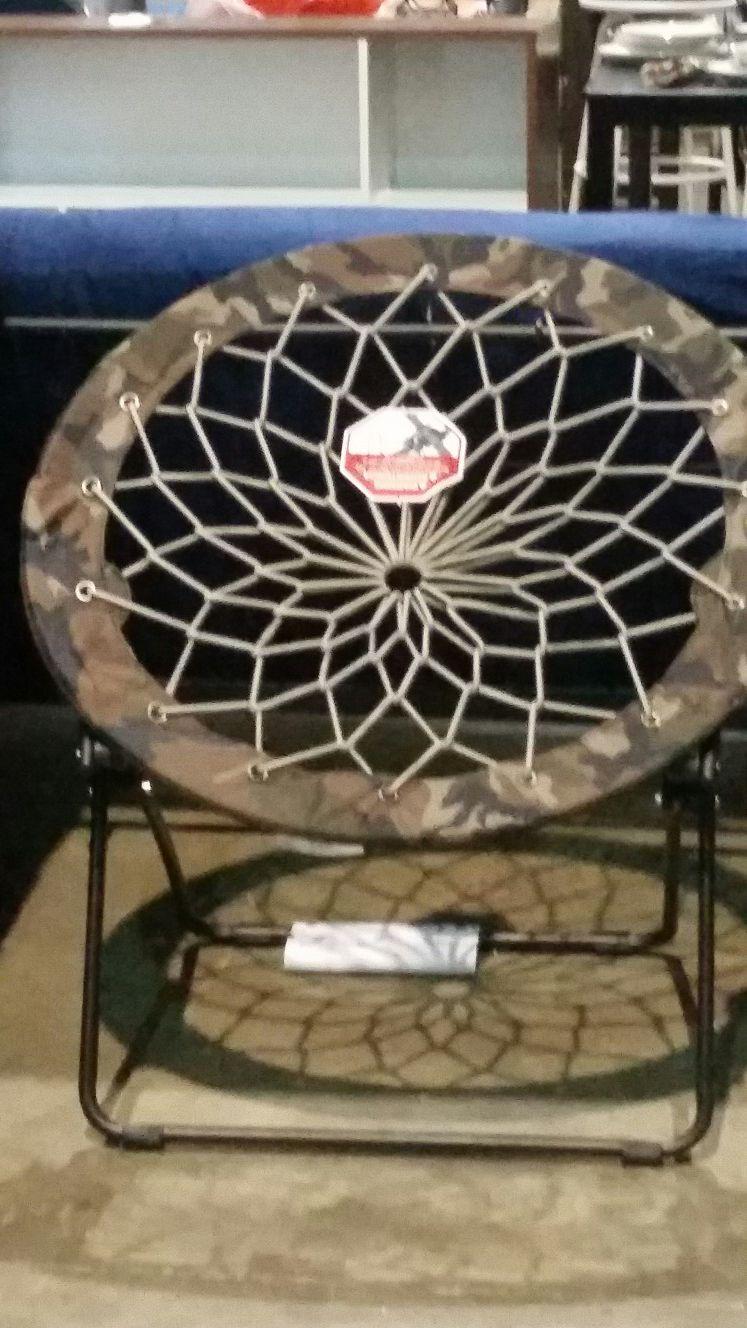New camo saucer chair