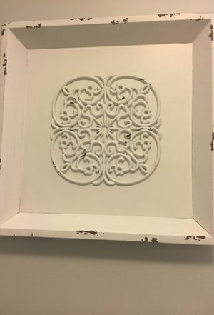 Distressed cream color wall art square shaped from Kirkland's for Sale in Nashville, TN