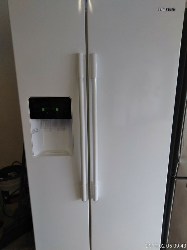 Samsung White Side By Side Refrigerator For Sale In Houston Tx