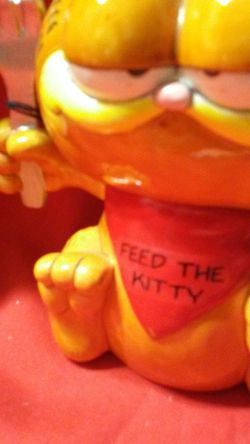 Garfield Feed The Kitty Bank, New with tag Thumbnail