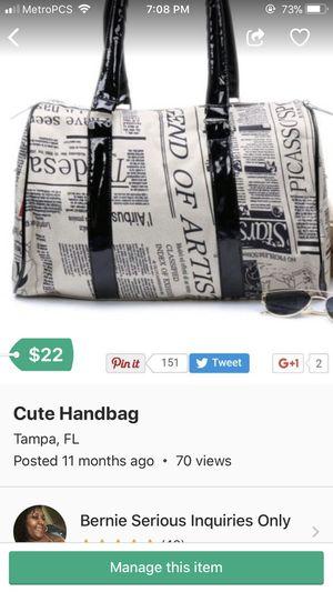 Cute Handbag (Price Reduced) for Sale in Tampa, FL