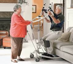 Photo Invacare Get-U-Up Hydraulic Stand-Up Patient Lift, 350 lb. Weight Capacity, GHS350