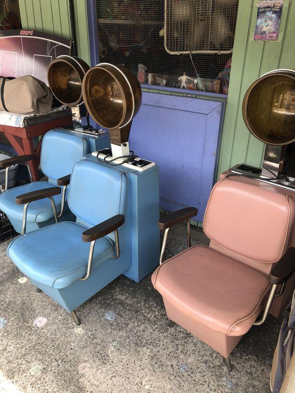 1970s bubble hair dryer chair vintage salon stylists seat for sale