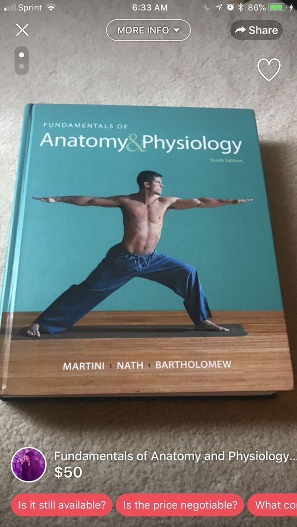 Fundamentals of Anatomy and Physiology for Sale in Lilburn, GA - OfferUp
