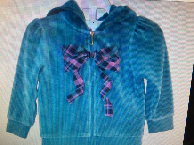 Like new juicy couture velour zip hoodie size 18 months