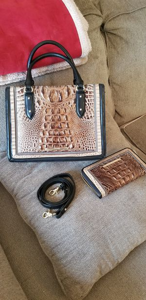 Photo Brahmin Leather Crossbody Purse and Matching Wallet