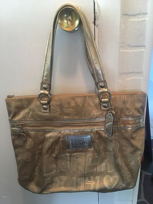Gold COACH bag for Sale in Frederick, MD