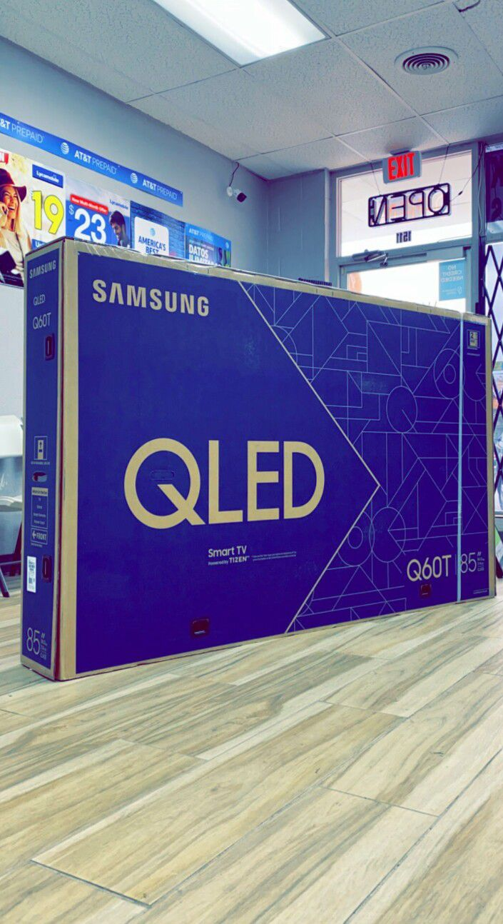 Samsung 85 inch - QLED - Q60T Series - 2160p - Smart - 4K UHD TV with HDR - Brand New in Box - Retails for $2199+Tax! One Year Warranty!