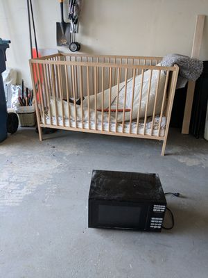 Crib and microwave oven for free for Sale in Herndon, VA