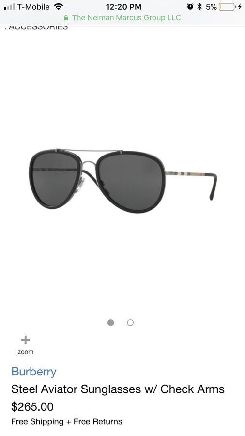 9b8a0dc6c787 Burberry Aviator Sunglasses w  the classic Burberry print for Sale in  DeSoto