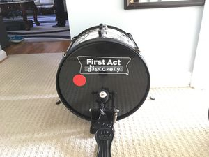 First act discovery kids drum kit, with used drum sticks. for Sale in Rockville, MD