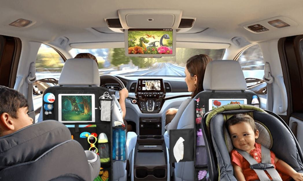 Messy Car? Roadtrip? High Quality Backseat Organizer for Kids! Less Stress for All!