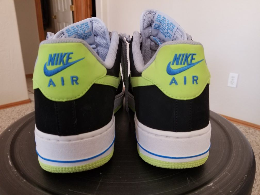Nike Air Force 1 Reflective Silver/Black/Volt Men Size12