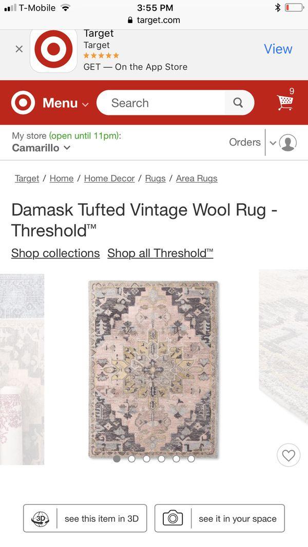 Damask vintage rug by Threshold-Target