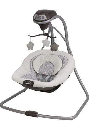 Photo Graco Simple Sway Baby Swing | 2 Speed Vibration, Abbington