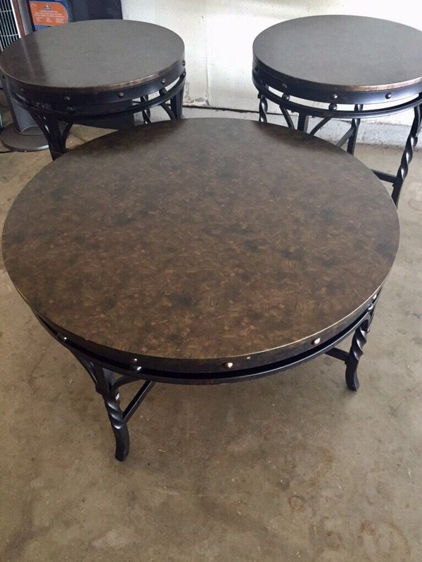 3 Brown End Tables From Ashley S, Ashley Furniture Mcallen Texas