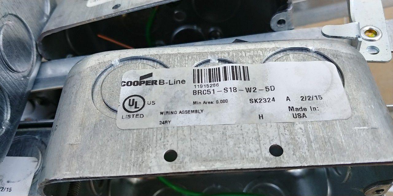 Cooper B-Line Conduit & Box BRC51-S18-W2-5D