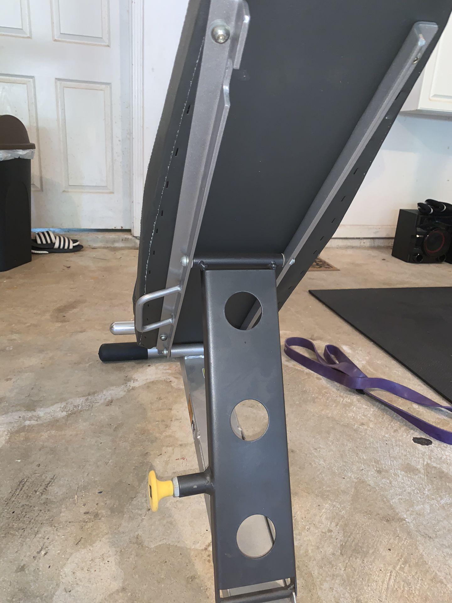 Hoist adjustable bench for lifting