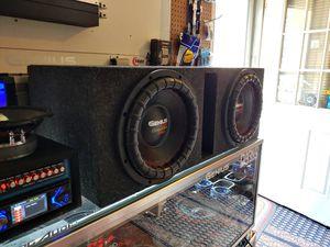 Photo New 12 Genius Audio G8 4000w Subwoofers with Ported Enclosure